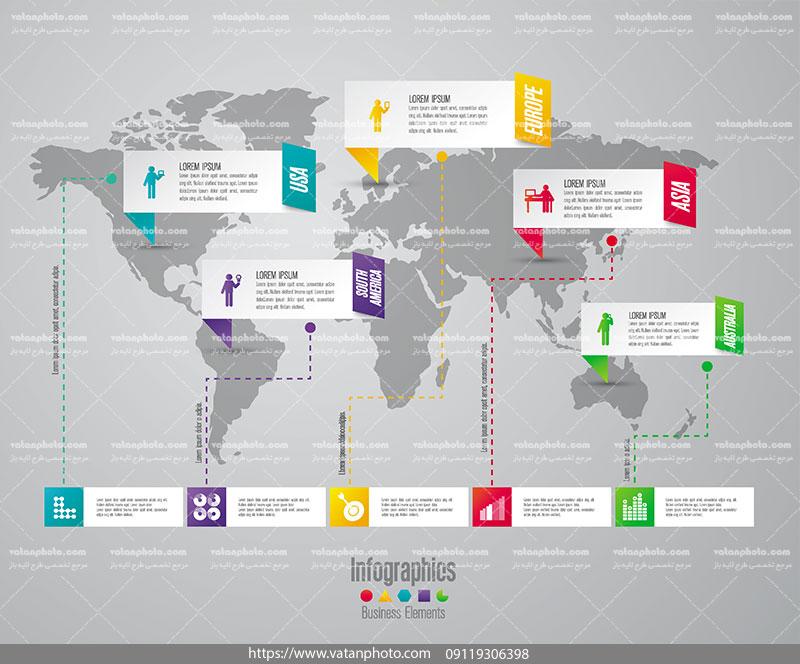 اینفوگرافیک جهانی مرحله ای