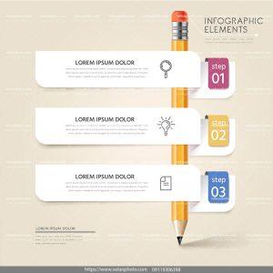 اینفوگرافی آموزشی با طرح مداد