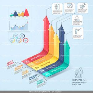 اینفوگرافی نمودار موفقیت کسب و کار
