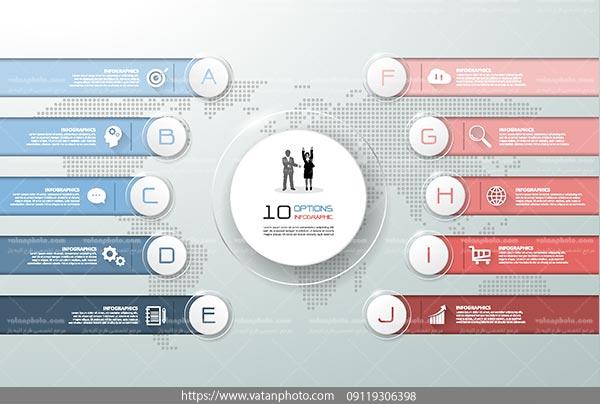 اینفوگرافی 10 مرحله ای AI و TIF