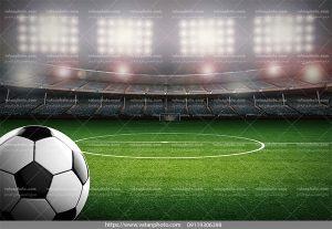 عکس توپ فوتبال زمین فوتبال