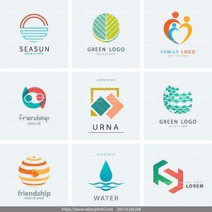 مجموعه لوگو رنگی AI و TIF