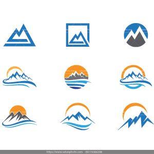 لوگو کوه لوگو کوهنوردی دانلود وکتور