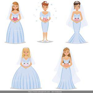 وکتور عروس وکتور لباس عروس