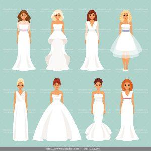 دانلود وکتور عروس وکتور لباس عروس