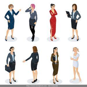 وکتور کاراکتر زن مشاغل گوناگون