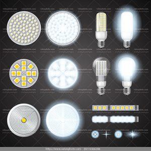 وکتور لامپ led لامپ smd