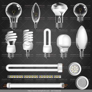 وکتور لامپ کم مصرف وکتور لامپ لوستر