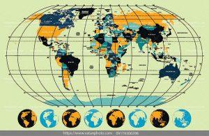 وکتور نقشه قاره ای