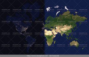 وکتور نقشه جهانی قاره