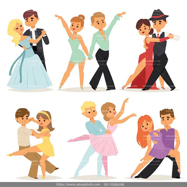 وکتور رقصیدن زن مرد