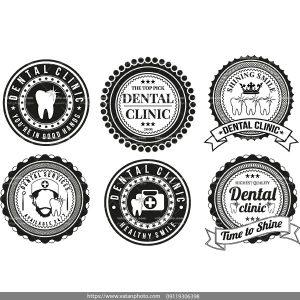 لوگو سیاه سفید دندان پزشکی AI و TIF