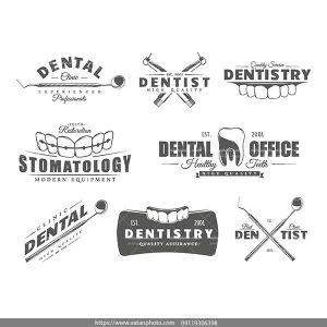لوگو سیاه سفید دندان دندانپزشکی AI و TIF