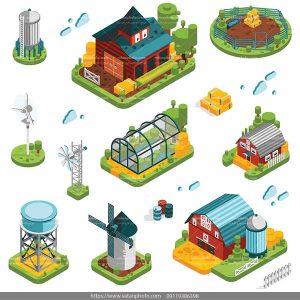 دانلود وکتور سه بعدی خانه مزرعه
