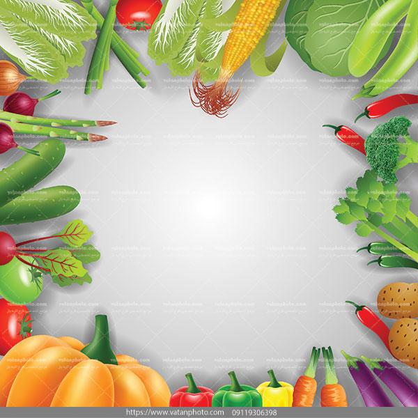 وکتور بکگراند فروشگاه سبزیجات