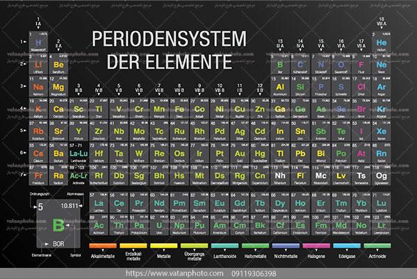 دانلود وکتور جدول تنابی عناصر