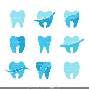 وکتور دندان دندانپزشکی AI و TIF