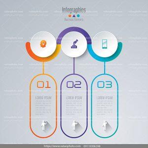 اینفوگرافیک 3 مرحله eps