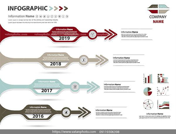 اینفوگرافی نموداری اطلاعاتی ai و tif