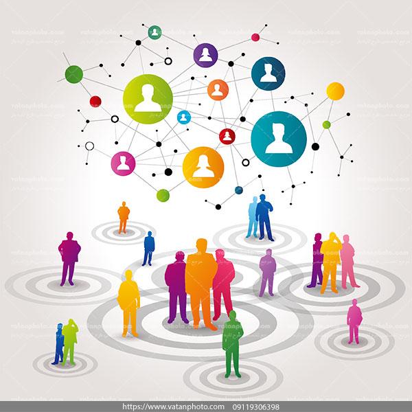 اینفوگرافی شبکه اجتماعی ai و tif