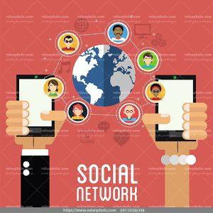اینفوگرافیک شبکه اجتماعی ai و tif