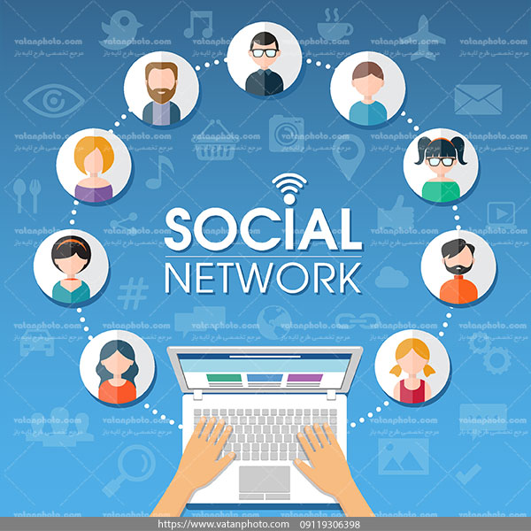 اینفوگرافی شبکه اجتماعی 2 ai و tif