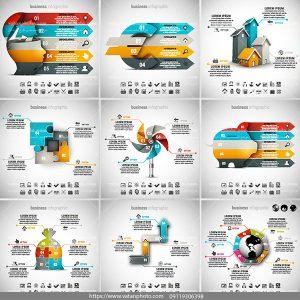 9 اینفوگرافی سه بعدی AI و TIF
