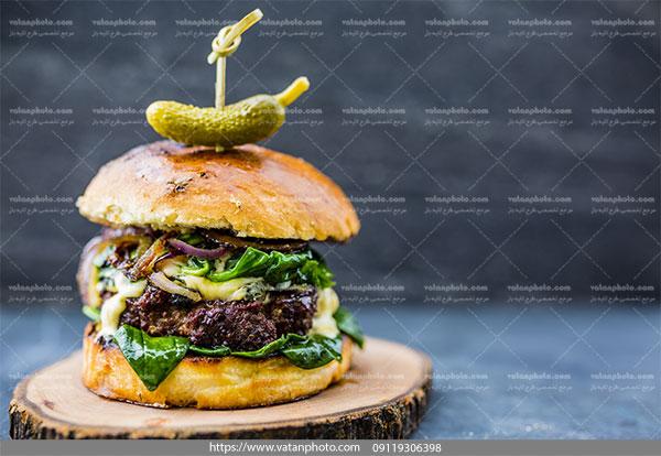 عکس همبرگر گوشت
