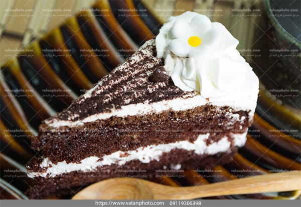 عکس کیک کاکائو خامه