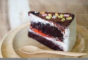 عکس کیک شکلاتی میوه ای