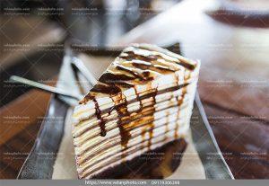 عکس کیک خامه ای شکلاتی