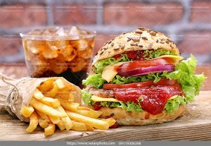 عکس همبرگر سیب زمینی