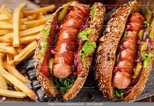 عکس ساندویچ کوکتل گوشت سیب زمینی