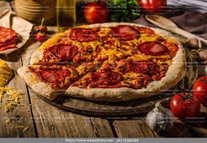 عکس پیتزا تنوری گوشت
