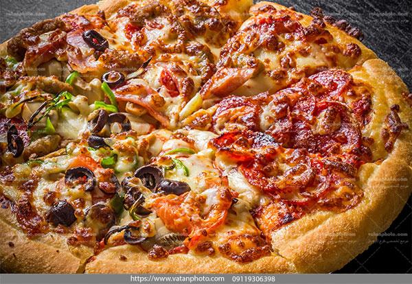 عکس پیتزا تنوری سبزیجات