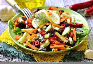 عکس سالاد خلال سبزیجات
