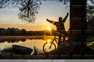 عکس ورزش صبحگاهی بادوچرخه