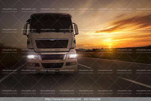 عکس کامیون باری