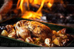 عکس خوراک مرغ تنوری