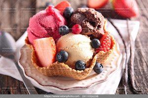 عکس میکس بستنی بامیوه