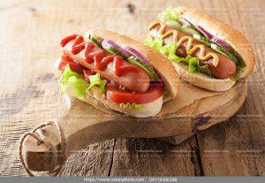 عکس ساندویچ لقمه ای سوسیس
