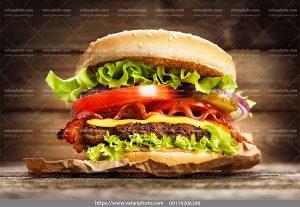 عکس ساندویچ چیزبرگر مخصوص