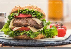 عکس کوتلت همبرگر گوشت