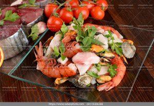عکس خوراک شاه میگو صدف
