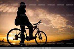 عکس عکاس دوچرخه سوار