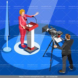 وکتور کنفرانس زنده تلوزیونی