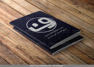 طرح لایه باز موکاپ جلد دفترچه