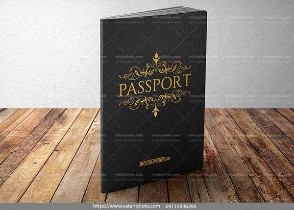 موکاپ جلد پاسپورت ایستاده