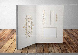 موکاپ صفحات داخلی پاسپورت