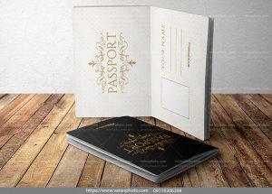 دانلود موکاپ جلد صفحات پاسپورت